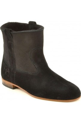 Elsa suede & black sheepskin