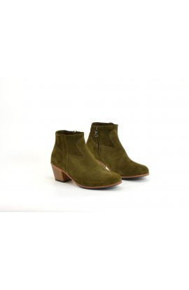 Gil calf suede olive