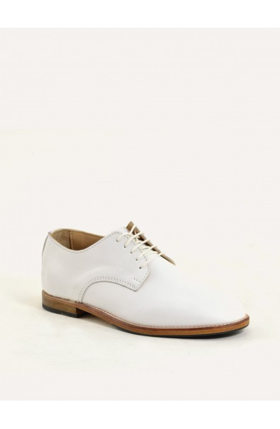 Derby Paris white calf supple