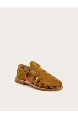 Serge squirrel calf suede