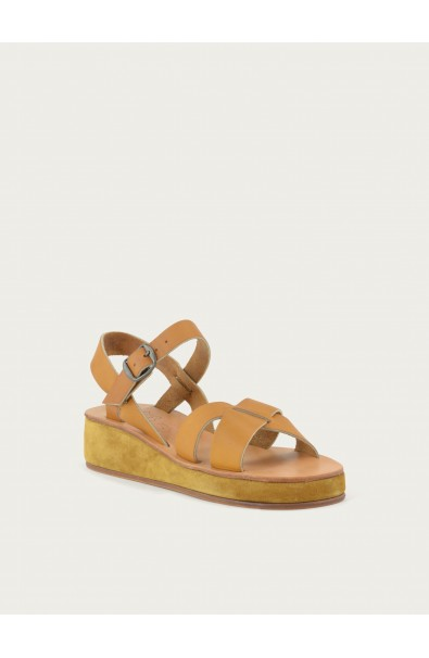 Pac wedge natural calf and squirrel calf suede