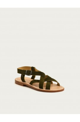 Brehat olive calf suede
