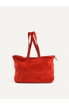 Leather bag cabas zip