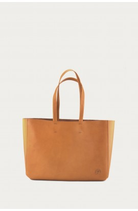 Leather bag Cabas