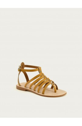 Women's leather sandals made in france tropéziennes