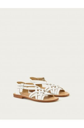 Women's leather sandals made in france
