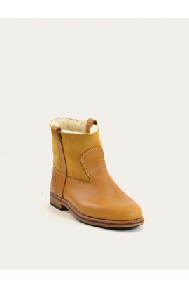 Leo natural calf & natural sheepskin