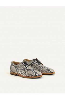 Derby Paris grey python pattern calf