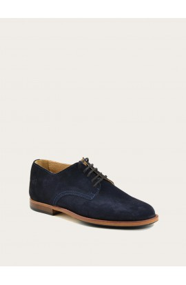 Derby Paris blue suede