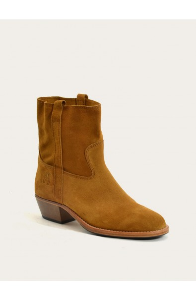 Janis squirrel calf suede