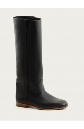 Elloa black fat full leather of calf