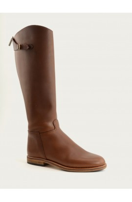 Cavalière ctity zip brown fat full leather of calf