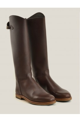 Cavalière ctity zip coffee fat full leather of calf