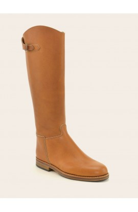 Cavalière ctity zip natural fat full leather of calf