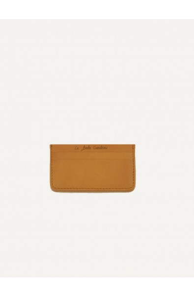 Card holder natural calf