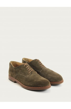 Derby velours taupe