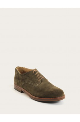 Derby taupe suede