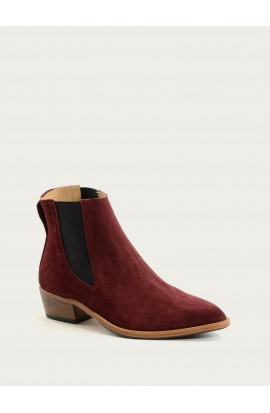 Boots tiag Paris veau velours bordeaux