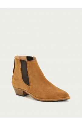 Boots Tiag velours ocre
