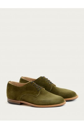 Derby Paris oliv suede
