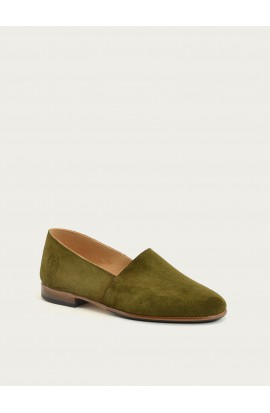 Maury olive suede