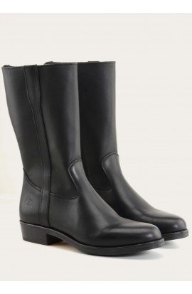 Gardian zip black calf