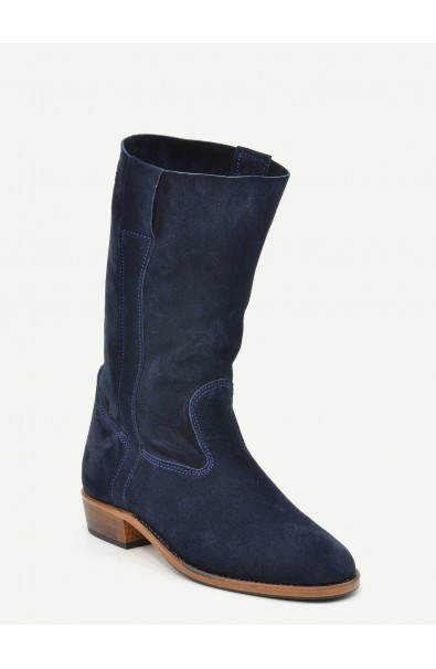 Gardian Paris blue calf suede