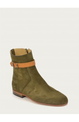 Poppins olive suede
