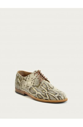 Derby Paris Dune Python pattern calf