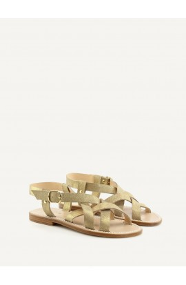 Brehat bright gold calf