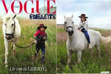 VOGUE Enfants, septembre 2015 - Elsa velours beige