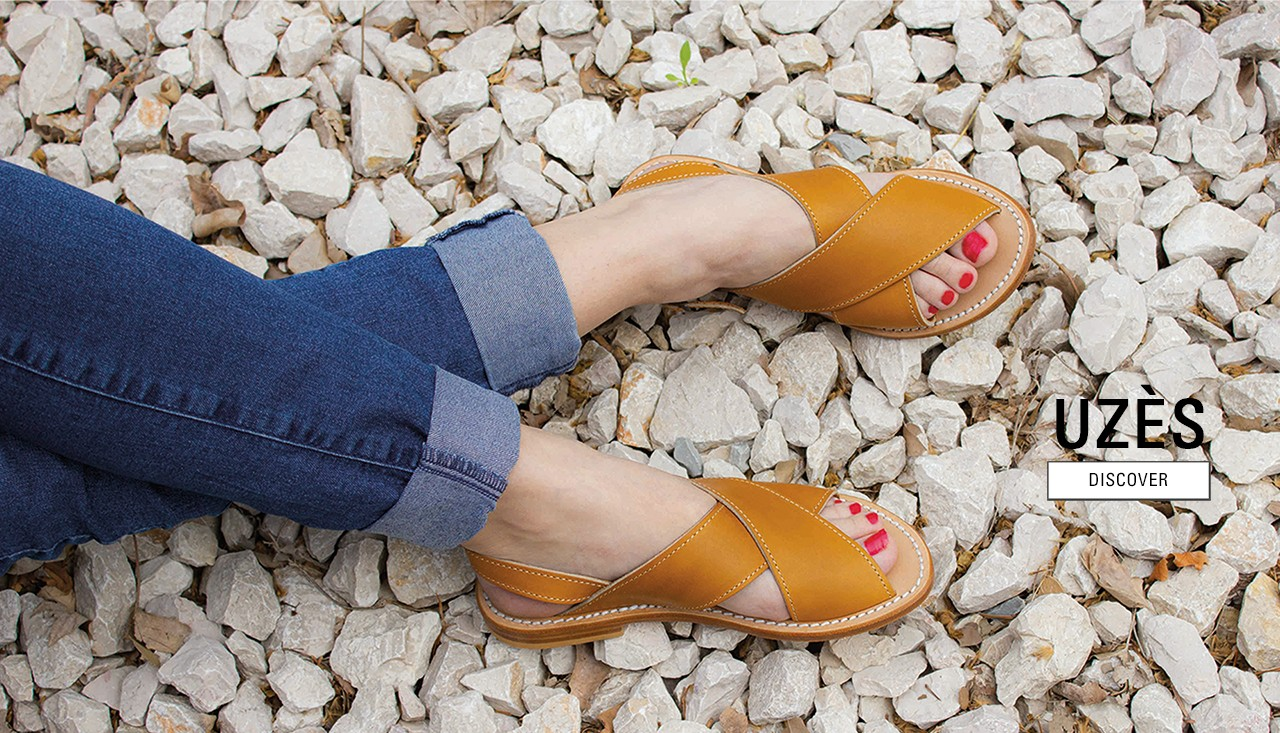 Uzes natural calf sandals