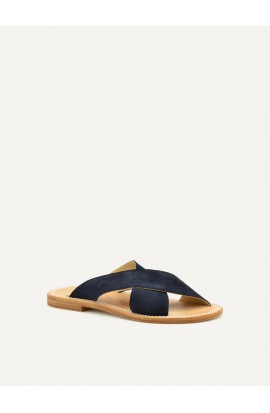 Sauzet navy blue calf suede