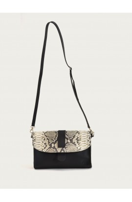 Mejanes bag black supple claf & grey python