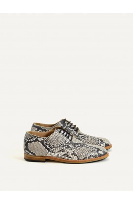 Derby Paris python imitation grey calf