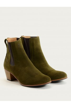 Sofia olive suede