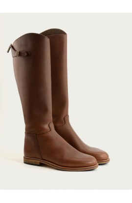 Cavalière zip brown calf