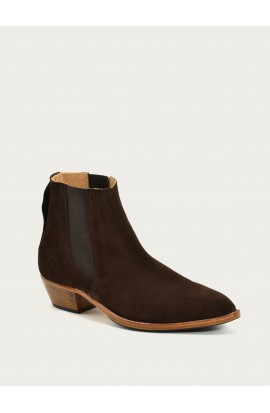 Boots Tiag velours chocolat