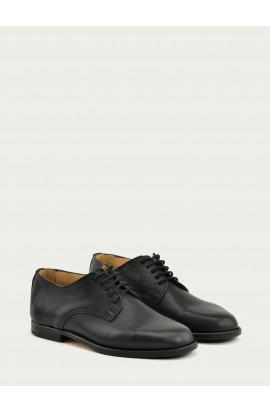 Derby Paris black supple black outsole