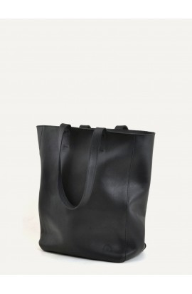 Solene black calf supple bag