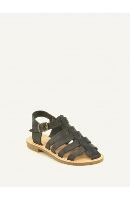 Rony kid ebony vegetable tanned leather