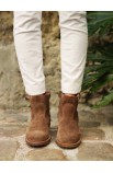 Suede low boots, high quality