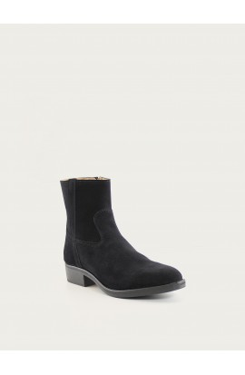Tiers Gary Zip charcoal suede black sole
