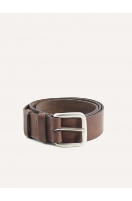 Brown leather belt width 35mm