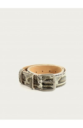 Printed python leather belt 35mm