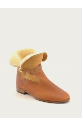 Chelby natural calf & natural sheepskin