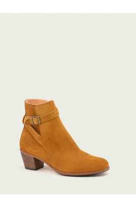 Leather booties, heeled, very comfortable