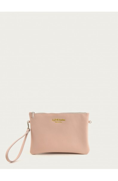 Nude supple calf pouch size M