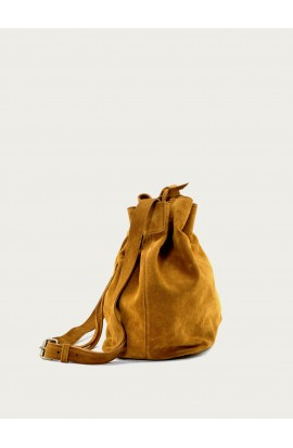 Squirrel calf suede bag Aumônière